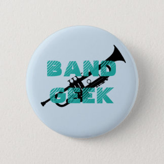Bóton Redondo 5.08cm Pin da trombeta do geek da banda
