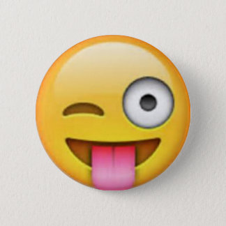 Bóton Redondo 5.08cm Pin de Emoji da língua