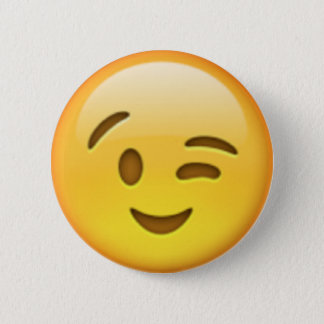Bóton Redondo 5.08cm Pin de Emoji do piscar os olhos