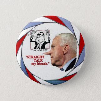 Bóton Redondo 5.08cm Pin de McCain Pinocchio