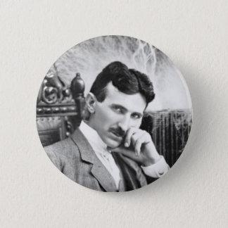 Bóton Redondo 5.08cm Pin de Nikola Tesla