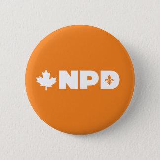 Bóton Redondo 5.08cm Pin de Quebeque NDP