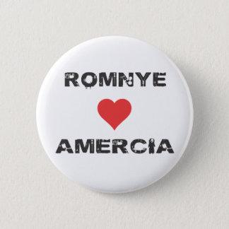 Bóton Redondo 5.08cm Pin de Romnye Luvs Amercia Pinback