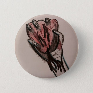 Bóton Redondo 5.08cm Pin disponivel do coração