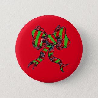 Bóton Redondo 5.08cm Pin do arco do Natal