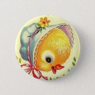 Bóton Redondo 5.08cm Pin do botão da páscoa do pintinho do bebê do