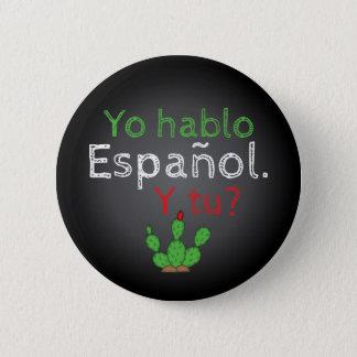 Bóton Redondo 5.08cm Pin do botão de Yo Hablo Español/Botón