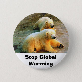 Bóton Redondo 5.08cm Pin do botão do aquecimento global da parada do