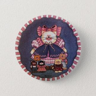 Bóton Redondo 5.08cm Pin do botão do gatinho de Camilla