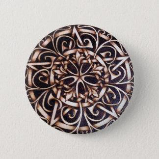 Bóton Redondo 5.08cm Pin do botão do Pentacle da porta de jardim
