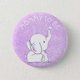 Bóton Redondo 5.08cm Pin do chá de fraldas do elefante de Purple Heart