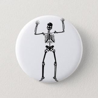 Bóton Redondo 5.08cm Pin do crânio (o Dia das Bruxas)