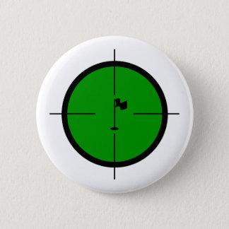 Bóton Redondo 5.08cm Pin do golfe nos Crosshairs