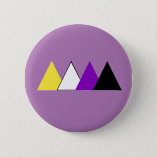 Bóton Redondo 5.08cm Pin do triângulo do orgulho de Nonbinary