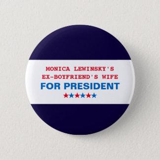 Bóton Redondo 5.08cm Pin engraçado do botão de Hillary Clinton Monica