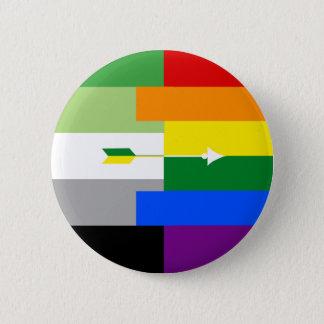 Bóton Redondo 5.08cm Pin homossexual de Aromantic