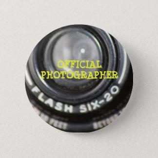 Bóton Redondo 5.08cm Pin oficial do fotógrafo