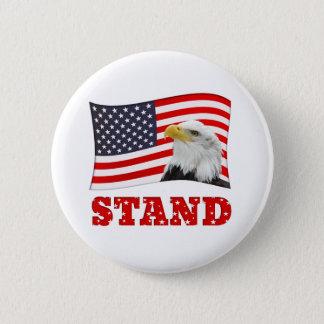 Bóton Redondo 5.08cm Pin patriótico do crachá da bandeira americana do