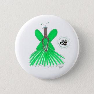 Bóton Redondo 5.08cm Pin Pseudo do botão da forma de Ballgown do verde