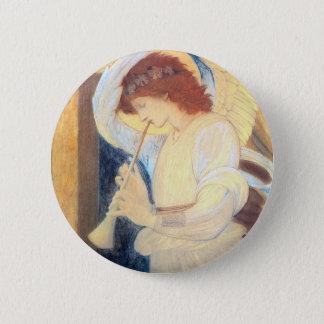 Bóton Redondo 5.08cm Pin redondo do botão do anjo do Natal -