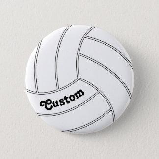Bóton Redondo 5.08cm Pin redondo do botão do voleibol CUSTOMIZÁVEL
