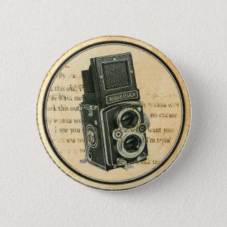 Bóton Redondo 5.08cm Pin retro do botão do fotógrafo da câmera do