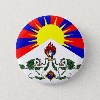 Bóton Redondo 5.08cm Pin tibetano da bandeira