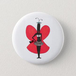 Bóton Redondo 5.08cm Pin vermelho/preto da celebridade Pseudo de SBM do