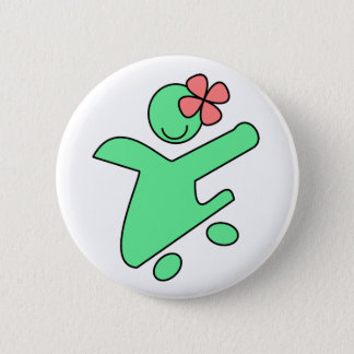Bóton Redondo 5.08cm Pino do botão da menina do patinador