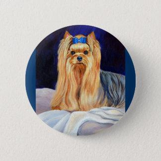Bóton Redondo 5.08cm Pino do botão do yorkshire terrier
