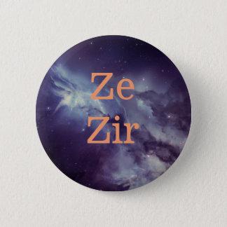 Bóton Redondo 5.08cm Pino do pronome de Ze Zir