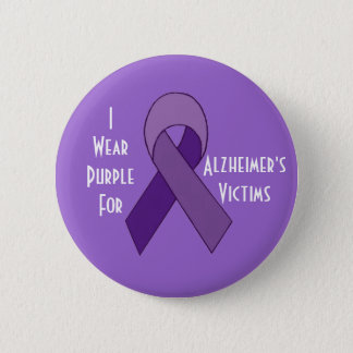 Bóton Redondo 5.08cm Pino do roxo das vítimas de Alzheimer