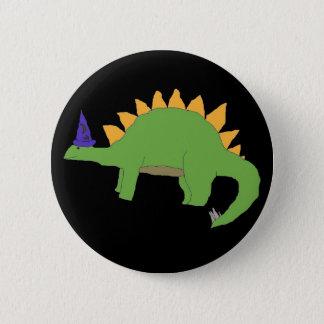 Bóton Redondo 5.08cm Pino do Stegosaurus do feiticeiro