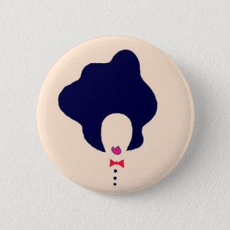 Bóton Redondo 5.08cm pino natural da arte do cabelo