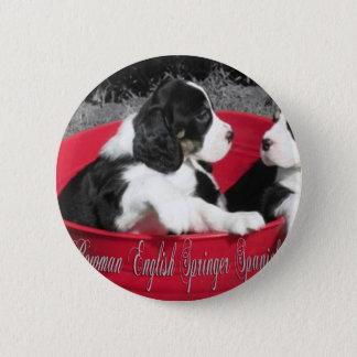 Bóton Redondo 5.08cm Pinos do filhote de cachorro de Springer