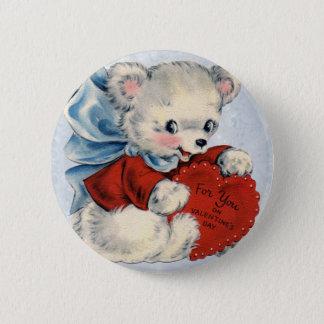 Bóton Redondo 5.08cm Pinos dos namorados do urso de ursinho do vintage