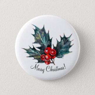Bóton Redondo 5.08cm Pinos personalizados do Natal do primavera do