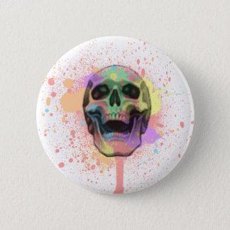 Bóton Redondo 5.08cm Pinte o botão do crânio do Splatter