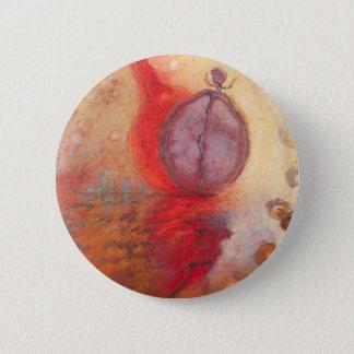 Bóton Redondo 5.08cm Pintura a óleo do abstrato da dança do fogo