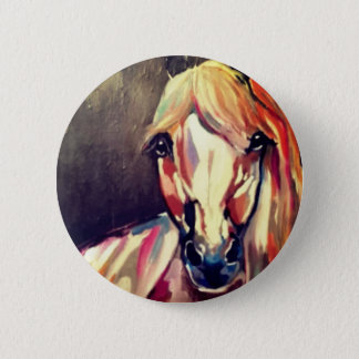 Bóton Redondo 5.08cm Pintura abstrata do cavalo