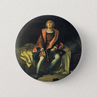 Bóton Redondo 5.08cm Pintura de Cristóvão Colombo por Antonio de