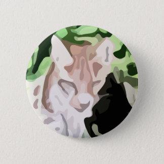Bóton Redondo 5.08cm pintura do gato do lince