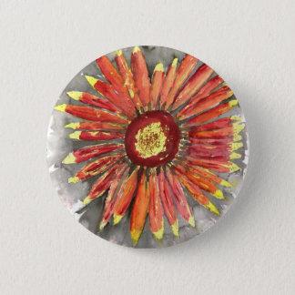 Bóton Redondo 5.08cm pintura geral indiana da aguarela do wildflower