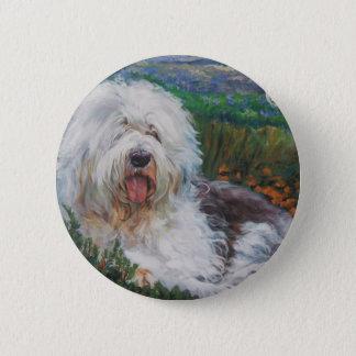 Bóton Redondo 5.08cm Pintura inglesa velha bonita da arte do cão do