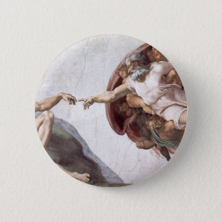 Bóton Redondo 5.08cm Pintura original de Michelangelo na capela Roma do