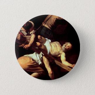 """Bóton Redondo 5.08cm Pintura original """"La crocifissione di s Pietro """""""