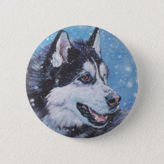 Bóton Redondo 5.08cm pintura realística das belas artes do cão do rouco