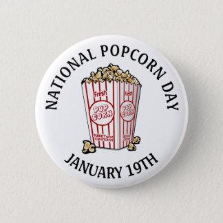 Bóton Redondo 5.08cm Pipoca dia botão nacional do 19 de janeiro