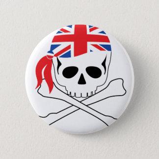 Bóton Redondo 5.08cm Pirata britânico