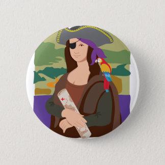 Bóton Redondo 5.08cm Pirata de Mona Lisa